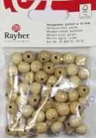 Rayher Holzperlen FSC, poliert 10mm 52St natur
