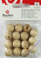 Rayher Holzperlen FSC, poliert 16mm 15St natur