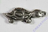 Pracht Metall-Anhänger Schildkröte 24x9mm