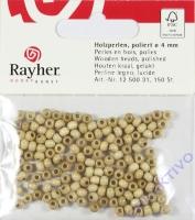 Rayher Holzperlen FSC, poliert 4mm 150St natur