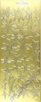 Stickerbogen Sterne gold 22x9cm