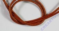 Rundriemen Lederband aus Rindleder 100cm 2mm ocker