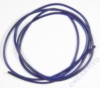 Rundriemen Lederband aus Rindleder 100cm 2mm kobaltblau