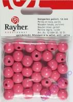 Rayher Holzperlen FSC, poliert 12mm 32St pink