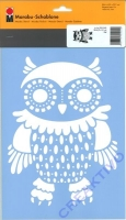 Marabu Schablone DinA4 Owl - Eule