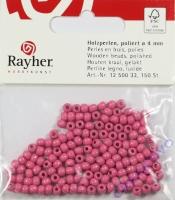 Rayher Holzperlen FSC, poliert 4mm 150St pink