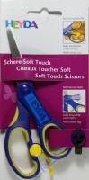 Schere Soft Touch blau