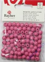 Rayher Holzperlen FSC, poliert 8mm 82St pink
