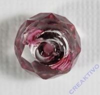Glasschliffperle Rosenperle 12mm amethyst