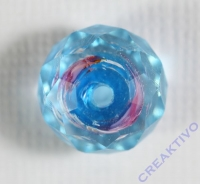 Glasschliffperle Rosenperle 12mm hellblau