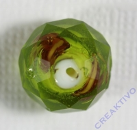 Glasschliffperle Rosenperle 12mm hellgrün