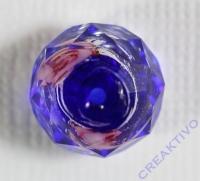 Glasschliffperle Rosenperle 12mm blau