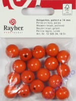 Rayher Holzperlen FSC, poliert 4mm 18St orange