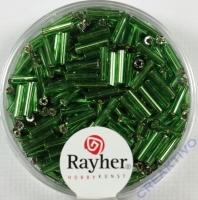 Glasstifte, 7/2 mm, mit Silbereinzug grün