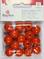 Rayher Holzperlen FSC, poliert 16mm 15St orange