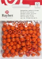 Rayher Holzperlen, poliert 8mm 82St orange