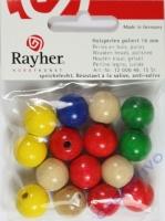 Rayher Holzperlen, poliert 16mm 15St gemischt