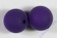 Polarisperle 14mm matt aubergine