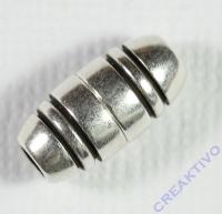 Pracht Magnetverschluss oval platin antik 12x6mm