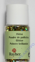 Rayher Hologramm- Flitter 2mm brill.gold 10ml