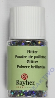 Rayher Hologramm- Flitter 2mm brill.silber 10ml