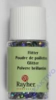 Rayher Hologramm- Flitter 2mm brill.silber 10ml