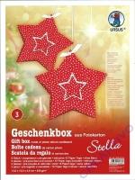 Geschenkbox aus Fotokarton- Stella - 5 Stück