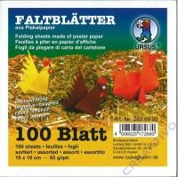 Faltblätter 10 x 10 cm 10 Farben 100 Blatt 65g/qm