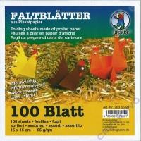 Faltblätter 15 x 15 cm 10 Farben 100 Blatt 65g/qm
