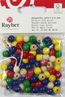 Rayher Holzperlen FSC, poliert 8mm 82St gemischt