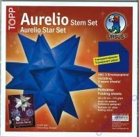 Aurelio Stern Set 20x20cm transparent blau