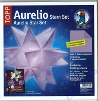 Aurelio Stern Set 20x20cm transparent flieder