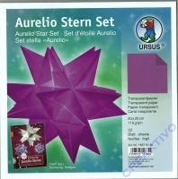 Aurelio Stern Set 20x20cm transparent aubergine