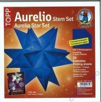 Aurelio Stern Set 15x15cm transparent blau