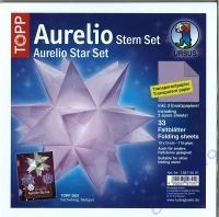 Aurelio Stern Set 15x15cm transparent flieder