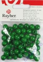 Rayher Holzperlen FSC, poliert 10mm 52St maigrün
