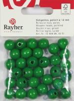 Rayher Holzperlen FSC, poliert 12mm 32St maigrün
