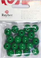 Rayher Holzperlen FSC, poliert 14mm 18St maigrün