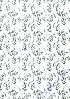 Designkarton Charity silber - Motiv 03 / Tauben