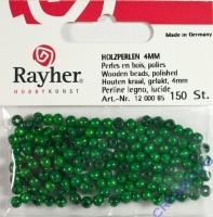 Rayher Holzperlen, poliert 4mm 150St maigrün