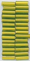 Glasstifte, 7/2 mm, mit Silbereinzug hellgrün
