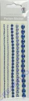 Perlen-Sticker Blau-Töne
