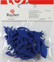 Filz-Streuteile Fische 3,5x1x0,2cm 36 Stück dunkelblau