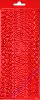 Stickerbogen Kreise rot
