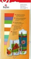 Rayher Wachsfolie, 10 Farben sortiert pastell, 10x0,5 cm