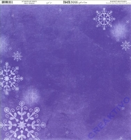 Scrapbooking Papier Winter Joy Frosty