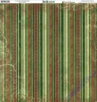 Scrapbooking Papier Father Christmas Stripe