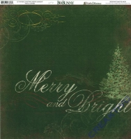 Scrapbooking Papier Father Christmas Merry & Bright