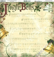 Scrapbooking Papier Father Christmas Jingle Bells