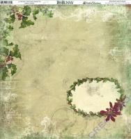 Scrapbooking Papier Father Christmas Poinsettia